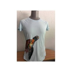 Sunshirt Sea Turtle, Lady, kurzarm (arctic blue)