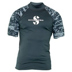 Rash Guard Graphite Shirt, Men, kurzarm (UPF-50) (grau)