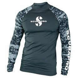 Rash Guard Graphite Shirt, Men, langarm (UPF-50) (grau)