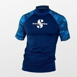 Rash Guard Aegean Shirt, Men, kurzarm (UPF-50) (dunkelblau)
