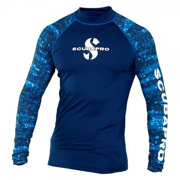 Rash Guard Aegean Shirt, Men, langarm (UPF-50) (dunkelblau)