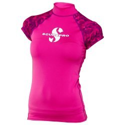 Rash Guard Flamingo Shirt, Lady, kurzarm (UPF-50) (pink)