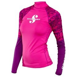 Rash Guard Flamingo Shirt, Lady, langarm (UPF-50) (pink)