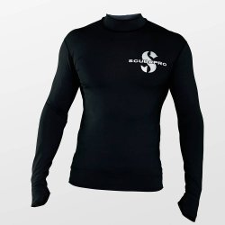 Swim Black Shirt, Men, langarm (UPF-50) (schwarz)
